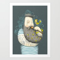 bird Art Prints featuring Bird by Seaside Spirit