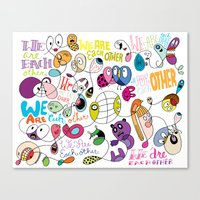We Are Each Other (the print) Canvas Print