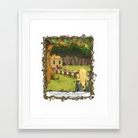 The March Hare and the Hatter Framed Art Print