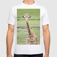 Smiling Giraffe Mens Fitted Tee Ash Grey SMALL