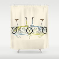 Brompton Bicycle Shower Curtain