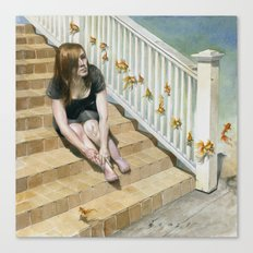 Golden Fish Ladder Canvas Print