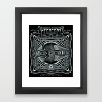 Intercept Framed Art Print