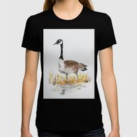 Bernache Du Canada (Cana… Womens Fitted Tee Black SMALL
