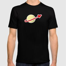 Space 1980 SMALL Mens Fitted Tee Black