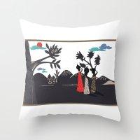 Africa life Throw Pillow