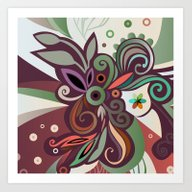 Art Print featuring Floral Curves II by /CAM