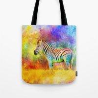 Jazzy Zebra Colorful Animal Art by Jai Johnson Tote Bag