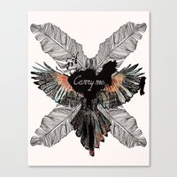 Canvas Print featuring Carry Me Remix by Stroke a Bird