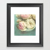 Bowl Of Roses Framed Art Print