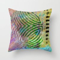 Abstract On Brown Throw Pillow