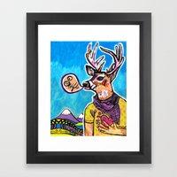 Swift Deer Framed Art Print