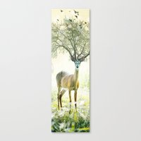 Deer Tree Canvas Print