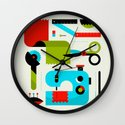 Sewing Kit Wall Clock