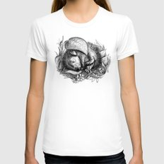 Baby hedgehog Womens Fitted Tee White SMALL