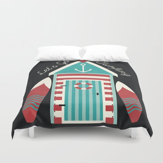 Let's Go Surfing. Duvet Cover
