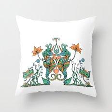 Seahorses Throw Pillow