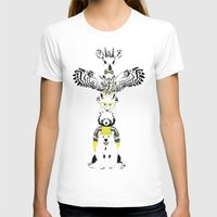 Hipster Totem Womens Fitted Tee White SMALL