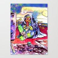 mini Boss mikey Canvas Print