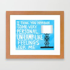 mindy project un-lamp-like feelings quote Framed Art Print