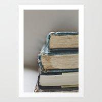 Vintage Books 3 - Book series  Art Print