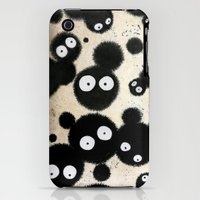 iPhone 3Gs & iPhone 3G Cases featuring Cute Susuwatari Infestation by Puddingshades