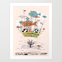 Bathtub Trip Art Print