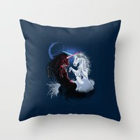 Unicorn Wars Throw Pillow