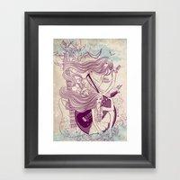 Music, Love, Peace Framed Art Print