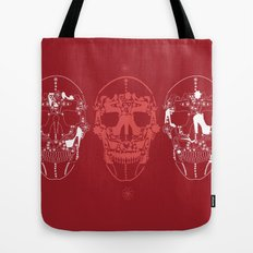 shoes make a skull Tote Bag