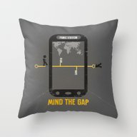 Mind The Media Throw Pillow