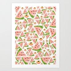 watermelon/peach love Art Print