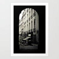 Parisian Doorway Art Print