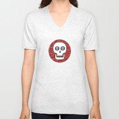 Skull Poppy Unisex V-Neck