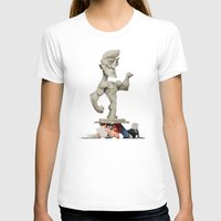 Roman Statue Womens Fitted Tee White SMALL