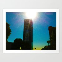 Building's Glare Art Print
