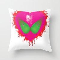 Lovebomb-iiis - élan Vi… Throw Pillow