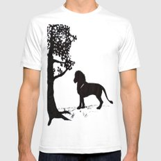 genus Panthera SMALL White Mens Fitted Tee