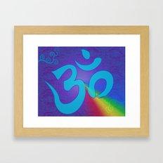 Mantra ... Aom Framed Art Print