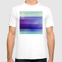 in the blue Mens Fitted Tee White SMALL
