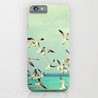 Sea Landscape With Seagu… iPhone 6 Slim Case