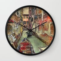 Autumn in Venice Wall Clock