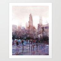 New York - Rainy day Art Print