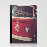 Volkswagen Bus Red & Whi… Stationery Cards