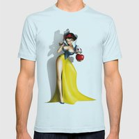 Snow White Mens Fitted Tee Light Blue SMALL