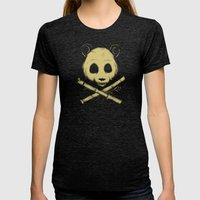 The Jolly Panda Womens Fitted Tee Tri-Black SMALL