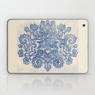 Indigo Blue Denim Ink Do… Laptop & iPad Skin
