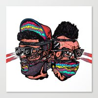 Bass Brothers Album cover  Canvas Print