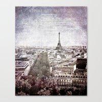 La Tour Eiffel {liberté Canvas Print