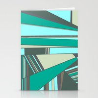 Triangles and Stripes Stationery Cards